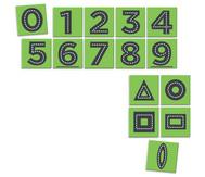 Nachspur-Zahlen auf Teppichfliesen