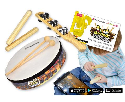 Rhythmic Village Percussion-Set