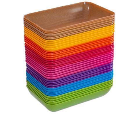 treeNside-Materialschalen gross 5 Stueck verschiedene Farben