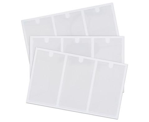 Betzold Selbstklebetasche inkl Einsteckschilder 55 x 102 mm 9 Stueck