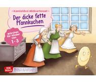 Bildkarten U3: Der dicke fette Pfannkuchen erzählt für Krippenkinder