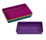 Materialschalen in modernen Farben, 4 Stück klein
