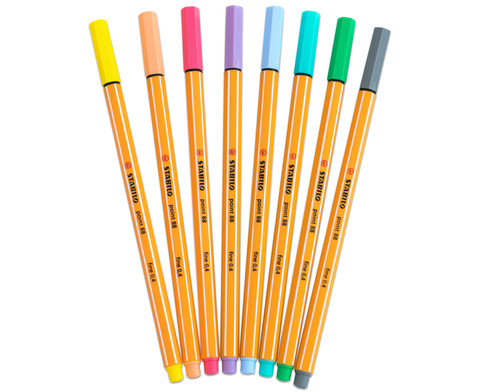STABILO Point 88 Pastellfarben 8er-Etui