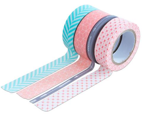 Washi Tape aus 4 Rollen Geometrisch