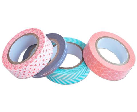 Washi Tape aus 4 Rollen Geometrisch-3
