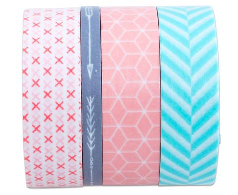 Washi Tape aus 4 Rollen Geometrisch-4