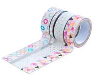 Washi Tape aus 4 Rollen - Hotfoil silber