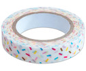 Washi Tape aus 5 Rollen - Konfetti neon orange grau mint blau-9