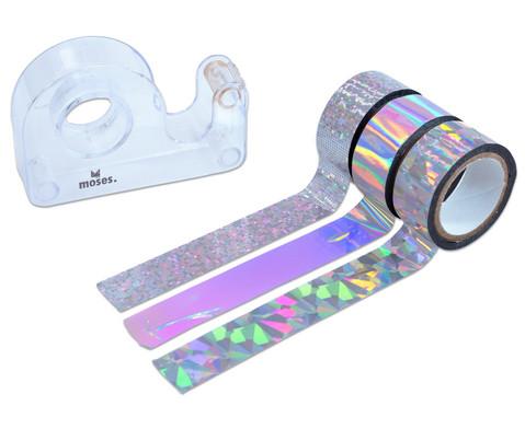 Metallic-Tapes silber mit Abroller