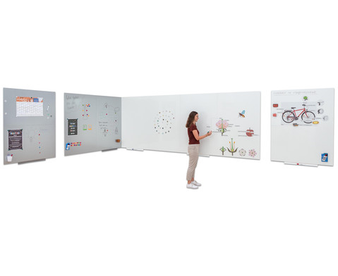 Langflaechen-Whiteboard in 2 Groessen und 2 Farben