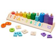 Holz Zählstation Formen und Farben