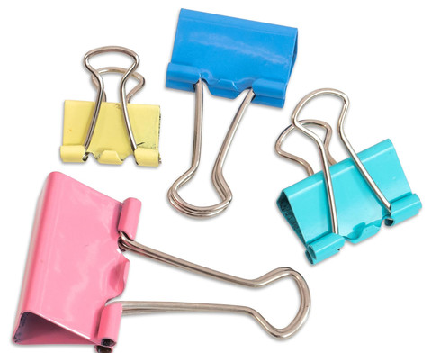 Foldback Klammern - Pastell Set mit 30 Stueck