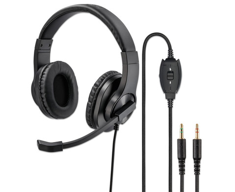 hama PC-Office-Headset HS-P300 Stereo Schwarz