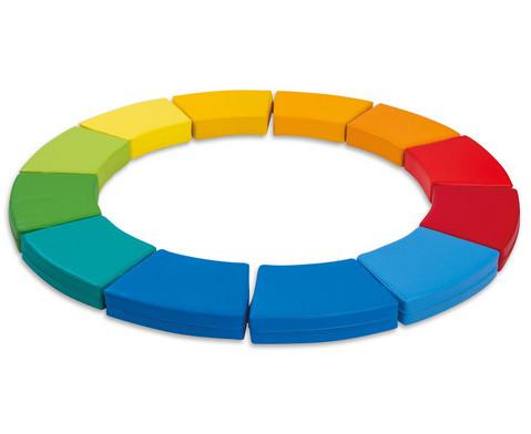 Sitzkissen Kreis Regenbogen 12tlg
