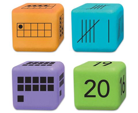 16 Zahlendarstellungs-Wuerfel