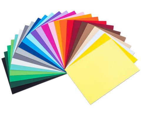 100 Blatt Tonpapier 25 Farben