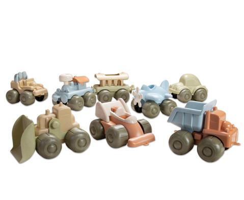 Fahrzeugset aus Biokunststoff 8-teilig