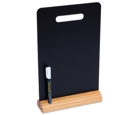 Tisch-Kreidetafel DIN A4 mit Griff und Holzstandfuss inkl Kreidemarker