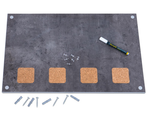Wand-Kreidetafel mit Kork inkl Kreidemarker und Pinnwandnadeln