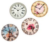 Motivmagnete Uhren, 4 Stück