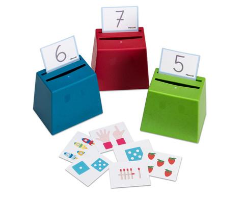 Betzold Mengen und Zahlen Sortierspiel Quizzerkarten