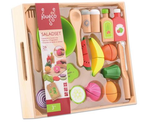 Salat-Set aus Holz 29-teilig
