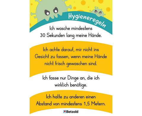 Betzold Plakat Hygieneregeln DIN A2 5 Stueck