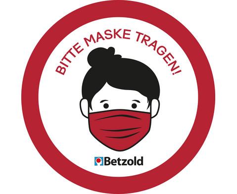 Betzold Aufkleber Bitte Maske tragen 10 Stueck