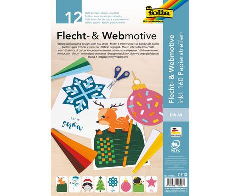 Flecht- und Webmotive Set XMAS DIN A4 12 Blatt inkl Papierstreifen