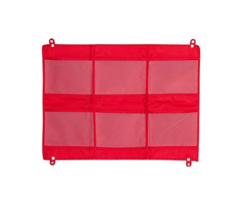 Haengeorganizer mit 6 Taschen 70 x 50 cm rot