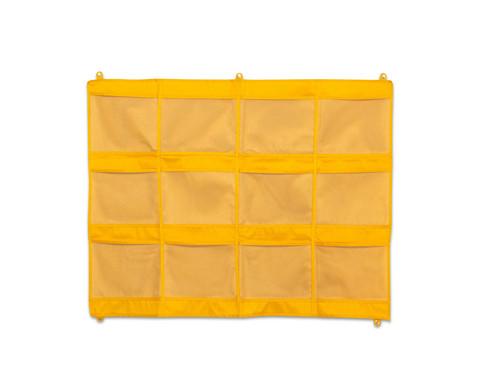 Haengeorganizer mit 12 Taschen - gelb 80 x 105 cm