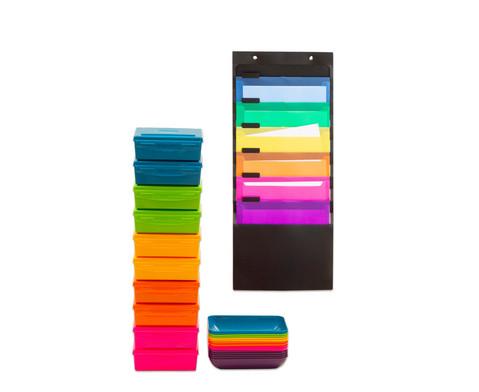 Lernstation-Set mit Ordnungsmappe Materialboxen und Materialschalen