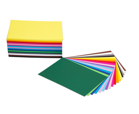 Tonkarton 180 g-m DIN A4 500 Blatt in 17 sortierten Farben