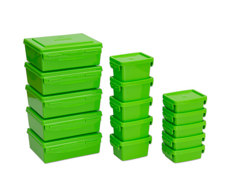 Betzold Aufbewahrungsboxen-Set 15-tlg Farbe waehlbar