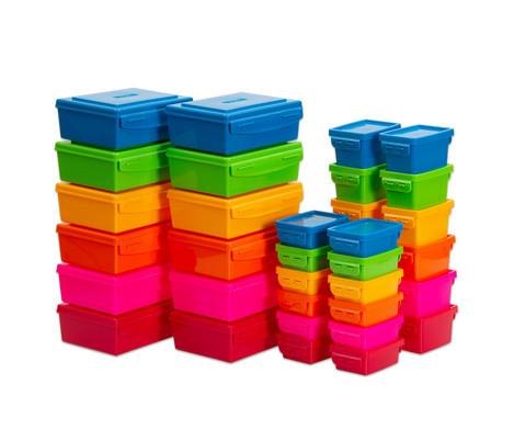 Aufbewahrungsbox-Set Regenbogenfarben 36-teilig