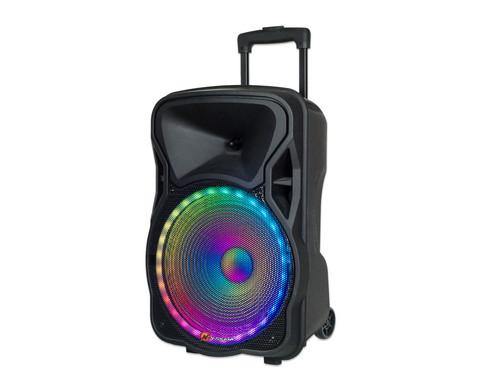 Bluetooth-Partybox inkl Fernbedienung und Mikrofon