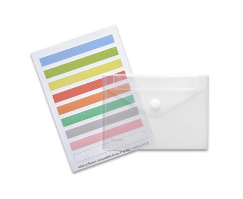 Index-Sichttasche DIN A5 quer 10 Stueck transparent