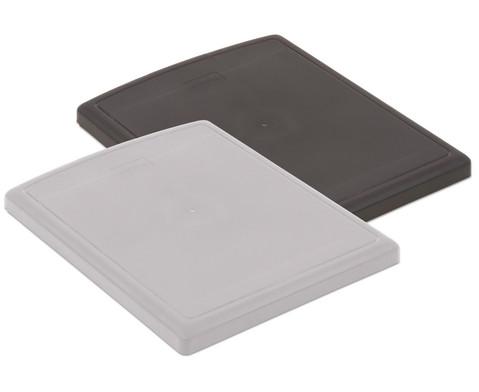 Flexeo Deckel fuer Box grau oder schwarz