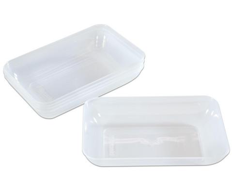 Betzold Materialschalen 5 Stueck transparent-klar Groesse waehlbar