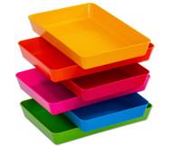treeNside Materialschalen, 6 Stück mit Farbe pink