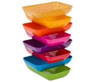 treeNside Materialschalen, 6 Stück mit Farbe lila