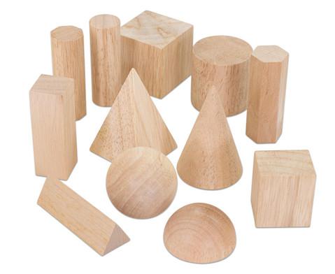 Betzold Geometriekoerper aus Holz 12 Stueck